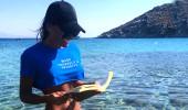 Eda Taşpınar, ince ipli bikinisiyle Mikanos'u salladı