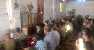 Mehmetçik El Bab'da bayram namazı kıldı: Zekai Paşa minbere çıktı