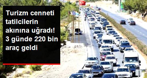 Bodrum Doldu Taştı! İlçeye 3 Günde 220 Bin Araç Giriş Yaptı
