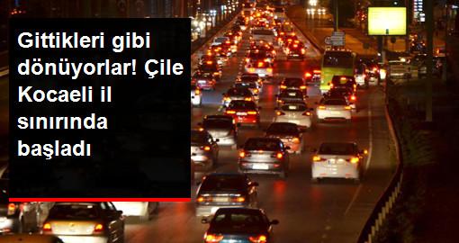 Tatilcilerin İstanbula Dönüş Çilesi Başladı!