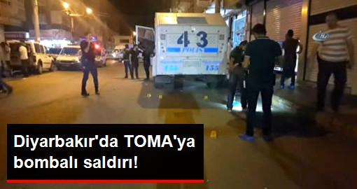 Diyarbakır'da TOMA'ya Bombalı Saldırı!