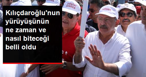 Kılıçdaroğlu'nun Adalet Yürüyüşü'nün Ne Zaman ve Nasıl Biteceği Belli Oldu