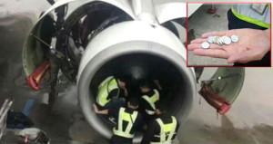 'Şans getirsin' diye uçağın motoruna bozuk para atınca bakın ne oldu