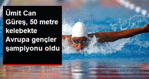 Avrupa Gençler Yüzme Şampiyonası'nda Ümit Can Güreş, Altın Madalya Aldı