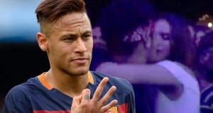 Neymar, aşk acısını esmer güzelle öpüşerek atlattı