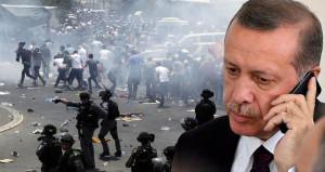 Erdoğan'dan Mescid-i Aksa için telefon diplomasisi! Macron'u aradı