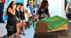 Ege'deki depremde ölen Sinan, ağıtlar ve gözyaşları içinde karşılandı