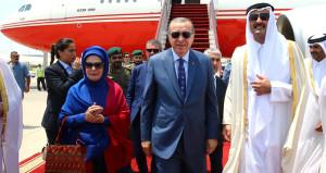 Erdoğan, körfez turunun son durağı Katar'da