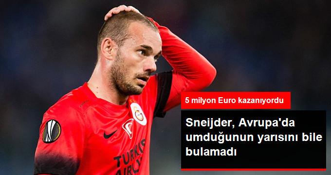 Sneijder, Avrupa da umduğunun yarısını bile bulamadı