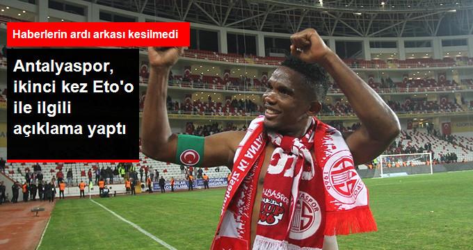 Antalyaspor, ikinci kez Eto o ile ilgili açıklama yaptı