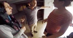Apartman yöneticisi polis, misafirin kafasına silah dayadı!
