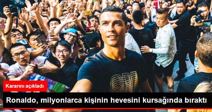 Ronaldo, milyonlarca kişinin hevesini kursağında bıraktı