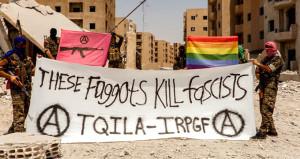 YPG'nin eşcinsel teröristleri, DEAŞ'a karşı ordu kurdu