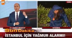 ATV muhabiri canlı yayında zor anlar yaşadı: Ayakta duramıyorum