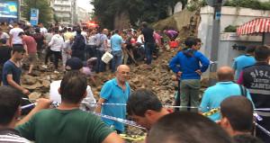 Osmanbey'deki Pangaltı Ermeni Mezarlığı'nın duvarı çöktü: 4 yaralı