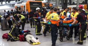Barcelona'da tren kazası! 48 kişi yaralandı
