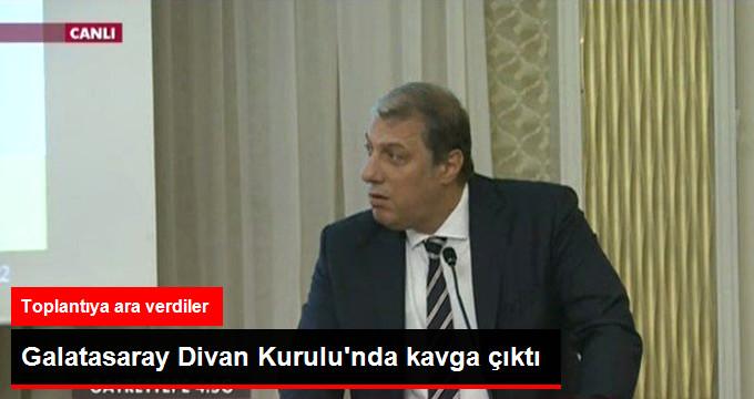 Galatasaray Divan Kurulunda kavga çıktı