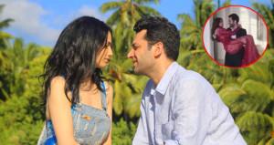 Murat Yıldırım, eşini kucaklayıp havalara uçurdu