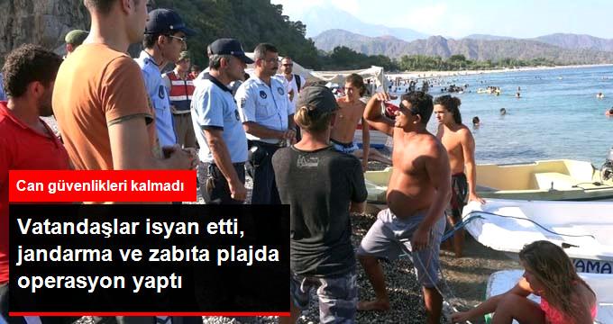 Vatandaşlar isyan etti, jandarma ve zabıta plajda operasyon yaptı
