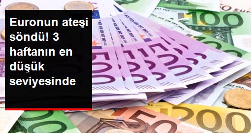 Euro, 3 Haftanın En Düşük Seviyesinde