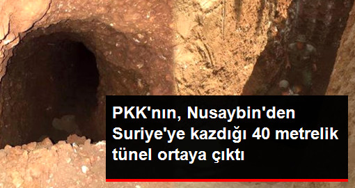 PKK'nın, Nusaybin'den Suriye'ye Kazdığı 40 Metrelik Tünel Ortaya Çıktı