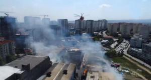 Fabrika bahçesinde korkutan yangın! İtfaiye ekipleri seferber oldu