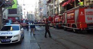 İstiklal Caddesi'nde korkutan patlama ve yangın!