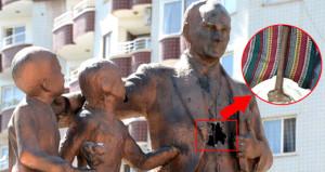 Atatürk Anıtı'na çekiçle vuran saldırgan, gözaltına alındı