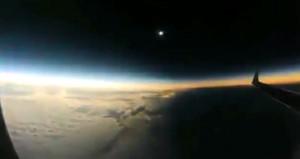 Güneş tutulması havada böyle görüntülendi