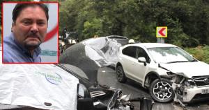 Kaza yapan karısına gözyaşlarıyla koştu: Ne olur bir kez göreyim