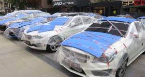 Galericilerden dolu önlemi! Lüks otomobilleri sarıp sarmaladılar