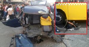 Kadıköy'de otomobil, belediye otobüsünün altına girdi: 1 ölü, 3 yaralı