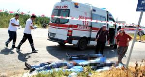 Manisa'da korkunç kaza: 2 ölü, 7 yaralı!