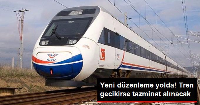 Tren Varış Noktasına 1 Saat Gecikirse Yolcuya Tazminat Ödenecek