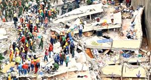 Meksika'da yıkılan binalardan çocukların ağlama sesi geliyor