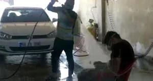 Oto yıkamacıdan çalışanına işkence gibi ceza!