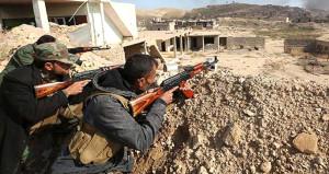 PKK'lı teröristler ile Haşdi Şabi militanları arasında kanlı çatışma