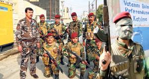 Kuzey Irak referandumda, Türkmen bordo bereliler nöbette