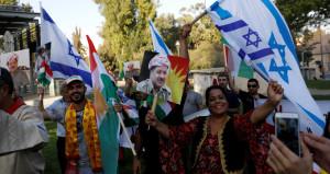 Referandumdan tüm gelişmeler! İsrail bayrağı ve IKYB bayrağı yan yana