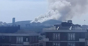 Sancaktepe'de askeri alanda yangın! Karadan ve havadan müdahale edildi