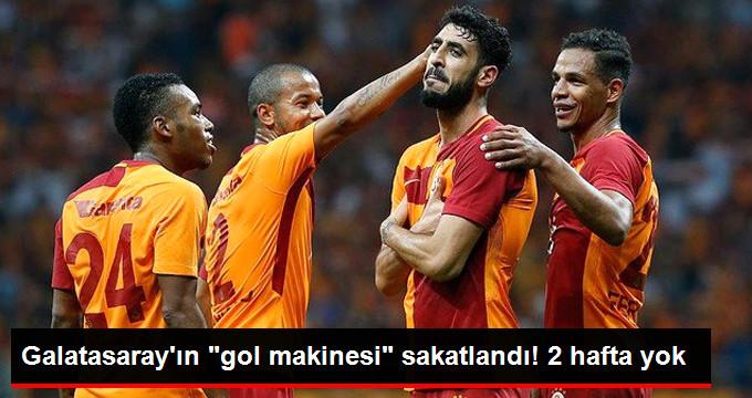 Galatasaray ın  gol makinesi  sakatlandı! 2 hafta yok