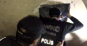 Nefes kesen narkotik operasyonunda torbacı tüneli bulundu