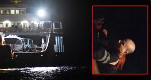 Vapurdan atlayan yolcu için 4 dakikada nefes kesen kurtarma operasyonu