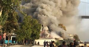 Tarihi Rumeli Hisari İskelesi'nde yangın! Anadolu yakasından görüldü