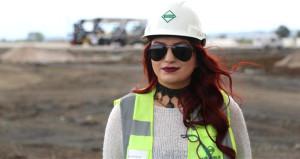 300 kişinin çalıştığı şantiyenin tek kadın mühendisi