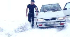 Bu kare bugün Türkiye'de çekildi! İşte beyaz örtünün esir aldığı kent