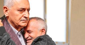 Helin'in babası, Başbakan'a sarıldı! Gözyaşlarına boğuldular