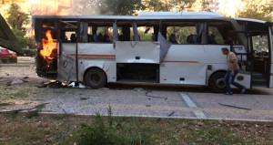 Mersin'deki bombalı saldırıdan ilk görüntüler
