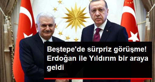 Son Dakika... Beştepe'de Sürpriz Görüşme! Erdoğan ile Yıldırım Bir Araya Geldi