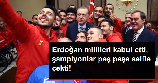 Cumhurbaşkanı Erdoğan, Avrupa Şampiyonu Olan A Milli Ampute Futbol Takımını Kabul Etti